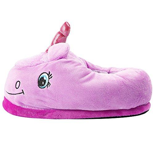 Pantofole Di Unicorno Peluche Adulti Adulti Pantofole Invernali Casa Calda Pantofole Calde Scarpe Fannullone Viola