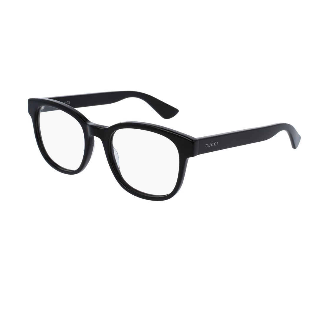 Gucci GG 0005O 005 Black Plastic Square Eyeglasses 53mm by Gucci