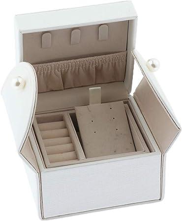 Mini Joyero con 2 Cajón Caja de Joyas DIY Estuche de Viaje para Pendientes Regalo para Madres: Amazon.es: Hogar