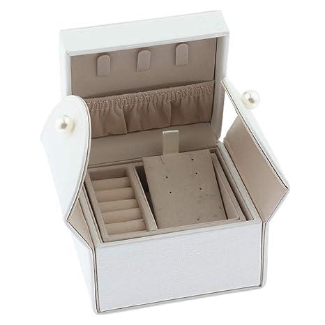 Mini Joyero con 2 Cajón Caja de Joyas DIY Estuche de Viaje ...