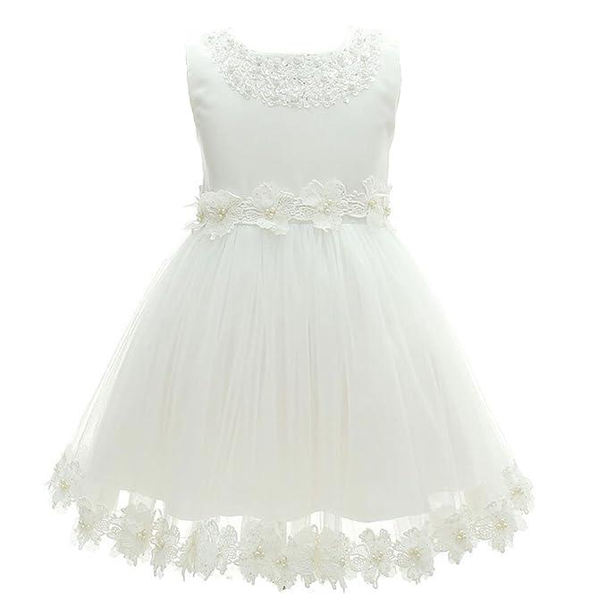AHAHA Rosa Niñas Vestidos Niñas Partido Princesa Vestido de Novia