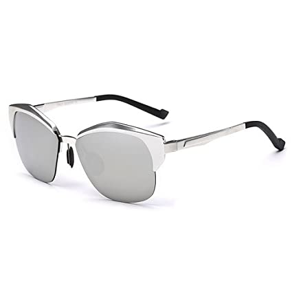 Personalidad semi-sin montura de los hombres gafas de sol polarizadas Marco de aluminio y