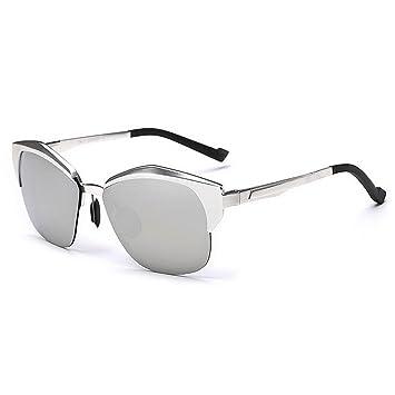Personalidad semi-sin montura de los hombres gafas de sol polarizadas Marco de aluminio y magnesio Protección UV de alta calidad de conducción gafas de sol ...