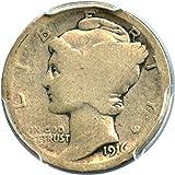 1916 D Mercury Dime Best Deals - 1916 D Mercury Dimes Dime AG-3 PCGS