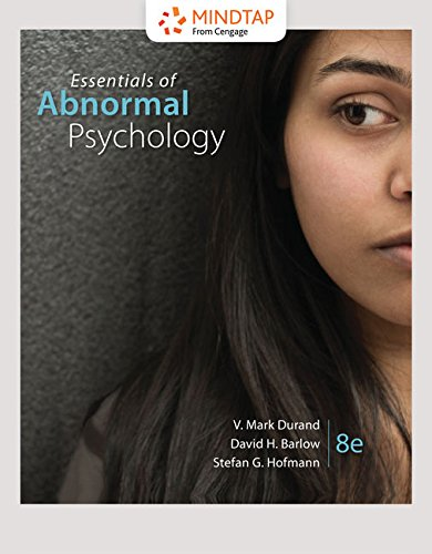 MindTap Psychology, 1 term (6 months) Printed Access Card for Durand/Barlow/Hofmann's Essentials of Abnormal Psychology, 8th