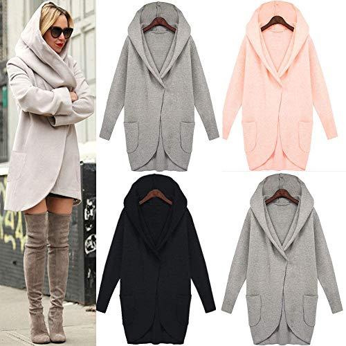 Coat Manteaux Longue Hiver Jacket Outwear Automne 7 Casual Taille Grande Hiver Veste Gilet Juqilu Capuche Sweatshirt Loose Hoodie 5XL Zipper Femme S 5qSgqtcz6