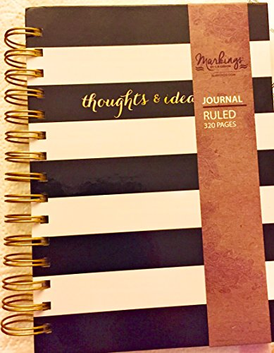 markings-by-cr-gibson-twin-wire-journal-ruled-6-x-8-320-pages-black-and-white-sripe