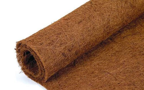 3 metres long x 75cm wide Co-co fibre - Coconut Coir liner roll - Coco Hanging Basket Wall Trough Liner