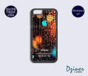 iPhone 6 Case - 4.7 inch model - Rain Drop Turquoise Design iPhone Cover