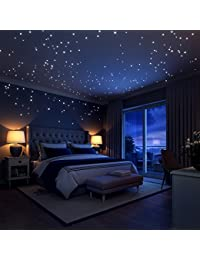 Glow In The Dark Stars Wall Stickers,252 Adhesive Dots and Moon for Starry Sky, Perfect For Kids Bedding Room or Birthday Gift ,Beautiful Wall Decals by LIDERSTAR ,Delight The One You Love. BOBEBE Online Baby Store From New York to Miami and Los Angeles