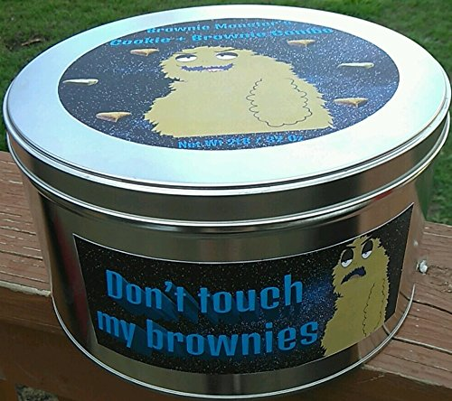 Mrs. Brownie Monster's 2LB Cookie + Brownie Combo Tin Customize the package with Your Message, Pictures, Memes, Gags or (Mrs Cookie Gift Tin)