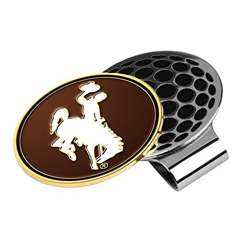 LinksWalker NCAA Wyoming Cowboys - Golf Hat Clip with Ball Marker by LinksWalker