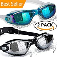 ALLPAIPAI Swimming Goggles Swim Goggles, Pack of 2...