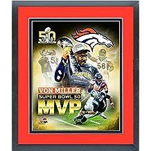 """Von Miller Denver Broncos Super Bowl 50 MVP Photo (Size: 13"""" x 16"""") Framed"""