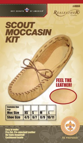 Realeather Crafts Leather Kit, 8/9-Size, Scout Moccasin - Moccasin Kit