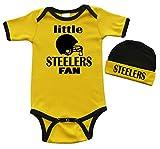 Short Sleeve Onesie & Cap Set - little STEELERS Fan