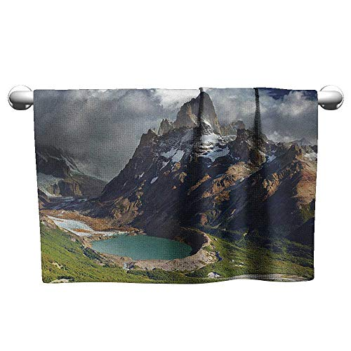 xixiBO Towels W35 x L12 Landscape,Mount Fitz Roy and Laguna Torre Los Glaciares National Park Patagonia Argentina, Multicolor Oversized Bath Towel (Laguna Robe Hook)