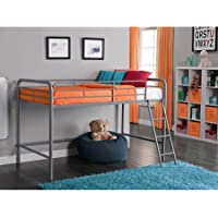 Junior Metal Loft Bed, Silver