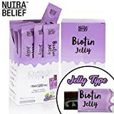 #8: Nutra Belief Daily Edible Biotin B7 Vitamin Jelly, Better Than Gummies, Boosts Natural Hair Growth, Radiant Skin and Strong Nails - 5000 mcg - Grape Flavor