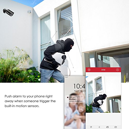 ZOSI PoE Home Security Camera System,8CH 2MP NVR with (8) 2.0 Megapixel 1920x1080 Outdoor/Indoor Surveillance Bullet IP Cameras 120ft Long Night Vision,Remote Access,Motion Detection(No Hard Drive) by ZOSI (Image #7)