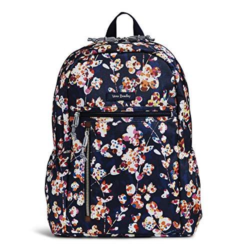 (Vera Bradley Lighten Up Study Hall Backpack, Polyester, cut vines)