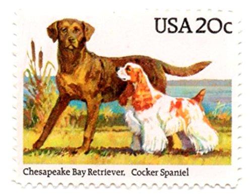USA Postage Stamp Single 1984 Chesapeake Bay Retriever Cocker Spaniel Issue 20 Cent Scott (Spaniel Postage Stamp)
