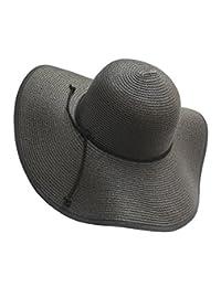 d91fb40f568 Urban CoCo Women s Wide Brim Caps Foldable Sun Straw Hats Summer Outdoor  Beach