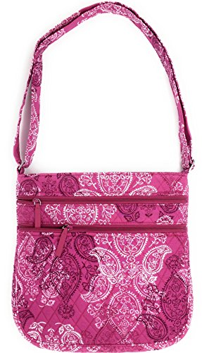 Hipster Stamped Body Triple Pink Zip With Vera Cross Paisley Interior Bradley Bag 0qfOX5Hwtx