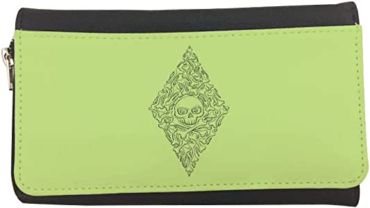 Bones and skull Printed Leather Case Wallet