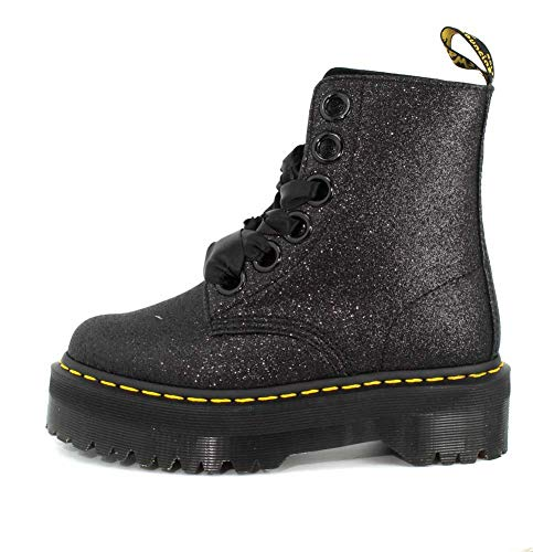 Dr Glitter Glitter Molly Womens Boot Martens Black qqTUv