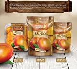 Dried Mango Slices By Nutty & Fruity - Natural With No Sugar Added - Unsulfured and No Preservatives added -This Healthy Snack is Gently Sliced Made With Real Mangoes And Great for the Trail and Home