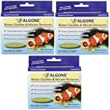 Algone Aquarium Water Clarifier and Nitrate Remover, 18 Filter Pouches (3 Packages with 6 per Package)