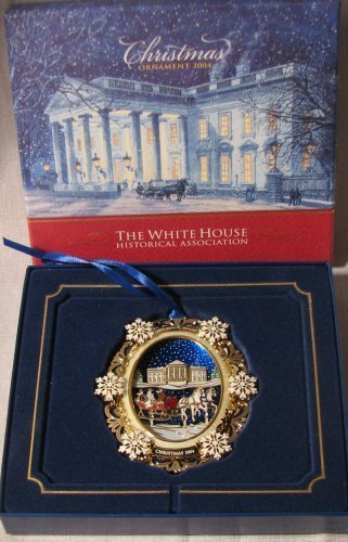 (2004 White House Christmas Ornament, A First Family's Sleigh)