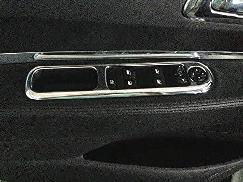 Lot de 4 coques pour accoudoir de porte int/érieure mats avec ouverture pour les boutons de l/ève-vitre
