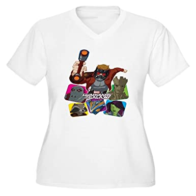 77606f8d5 CafePress GOTG Colored Squa Women's Plus Size V Neck T Shirt Women's Plus  Size V-
