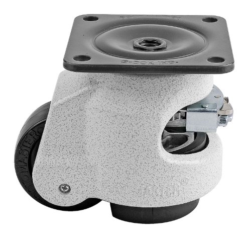 - FOOTMASTER GDR-80F Nylon Wheel and NBR Pad Ratcheting Leveling Caster, 1100 lbs, Top Plate 3 17/32