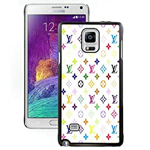 Unique And Lovely Designed Case For Samsung Galaxy Note 4 N910A N910T N910P N910V N910R4 With Louis vuitton patterns on white background Black Phone Case