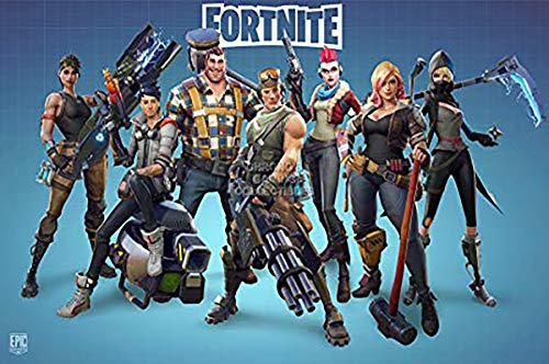 (LPStar Fortnite Poster on Silk Fabric 28x20 inch (Style III))