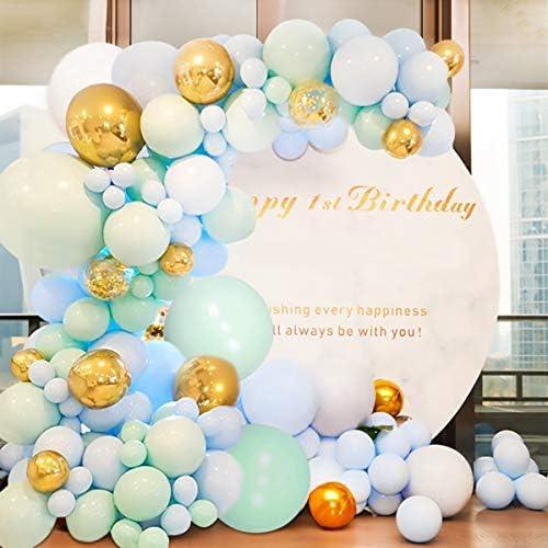 164pcs Macaron Blue Balloon Garland Set Macaron Mint Green Latex Balloon Decoration Kit Wedding Supplies Kids Birthday Party Decoration DIY