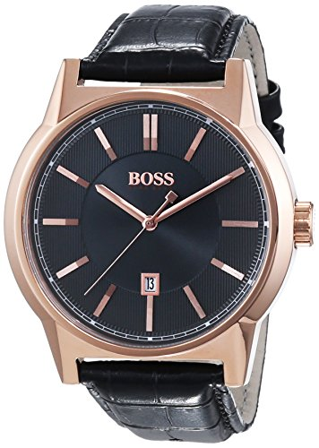 Hugo Boss Architecture Round 1513073 Mens Wristwatch Excellent readability