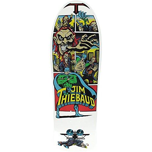 Santa Cruz Skateboards Jim Thiebaud Joker White Old School Skateboard Deck - 10