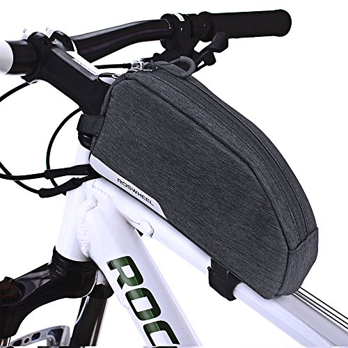 CestMall Bike Bag, MTB Bicycle Top Tube Bag, 1L Capacity Waterproof Cycling Front Frame Pannier Pouch Carrier Bags Bicycle Accessories for Outdoor by CestMall