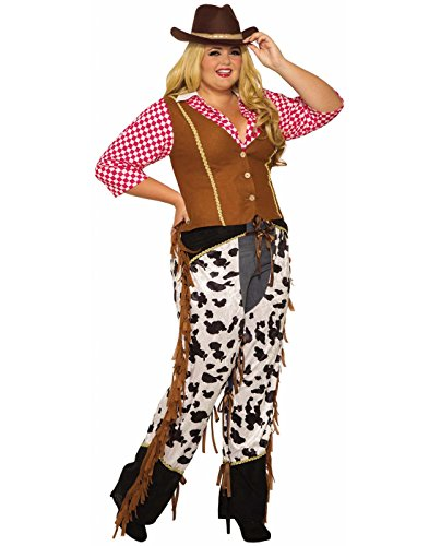 Forum Novelties 81221 Cowgirl Rancher, Multi, Plus, One Size -