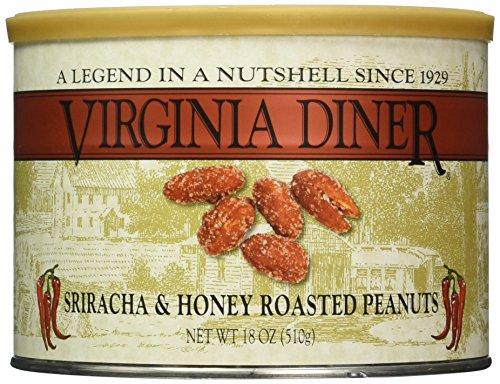 Virginia Diner Sriracha and Honey Roasted Peanuts, 18 Ounce