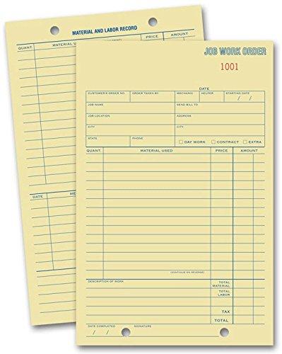 EGP Padded Job Work Order Cards - 500 Cards (Estimate Pads)