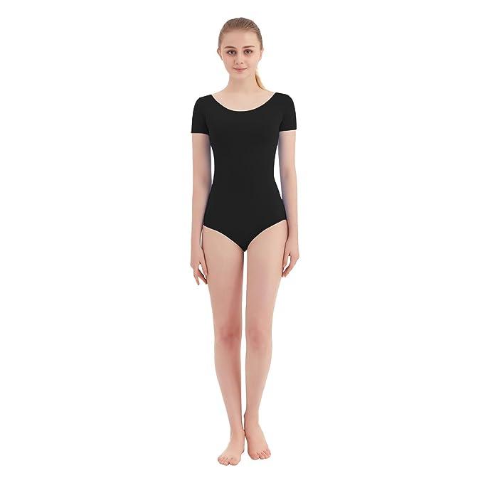 ae2f4f126 Amazon.com  SUPRNOWA Women s Scoop Neck Lycra Spandex Short Sleeve ...
