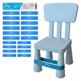Chair Bands for ADHD Kids - (20-Pack) Bouncy Kick Fidgets for Elementary, Middle, High School Students and Adults - Best for Classroom Chairs and Desk - (Light Blue) Fidget Feet Band by Feety