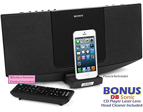 sony slim sleek micro shelf music system with ipod iphone 8 pin lightning connector docking. Black Bedroom Furniture Sets. Home Design Ideas
