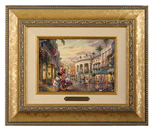 Thomas Kinkade Studios Minnie Rocks The Dots on Rodeo Drive 5 x 7 Brushwork (Gold Frame) ()