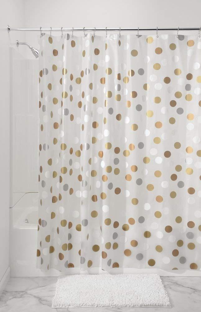 Cortina ba/ñera impermeable Cortina ducha con 12 ojales reforzados mDesign Cortina de ba/ño antimoho y libre de PVC gris//crema